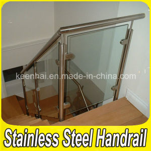Indoor Stainless Steel Stair Handrail Clear Glass Balustrade pictures & photos