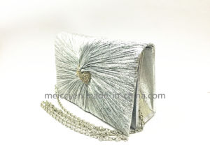 2017 New Design, Silver Ladies Eveingbag with Chain, pictures & photos