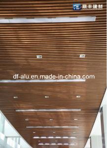Aluminum U Type Ceiling System, Metal Ceiling, Wooden Grain Design
