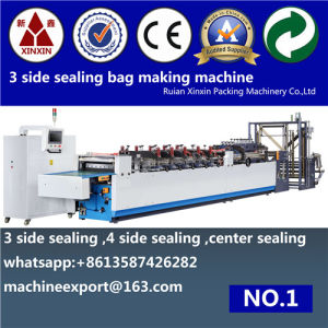 Zipper Lock Stand up Pouch 3 Side Sealing Bag Making Machine Double Functions Usages pictures & photos