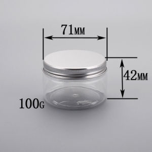 100ml Aluminium Screw Cap Pet Plastic Cream/Body Lotion Jar pictures & photos