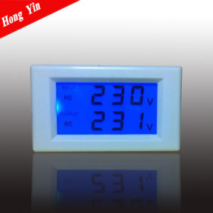 D85-2020 High Quality LCD Display Digital Panel Voltmeter pictures & photos