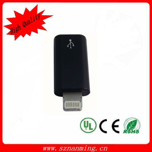 Micro to 8pin Black Color Adapter for iPhone5 pictures & photos
