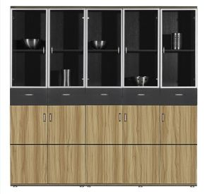 China Modern Wooden Glass Door Filing Cabinet - China Wooden ...