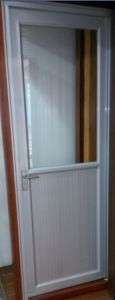 Aluminium Casement Door (half glass & aluminium) pictures & photos