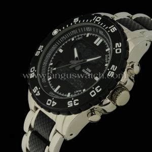 2014 Fashion Double Movement Metal Watch with Quartz and Digital Movt