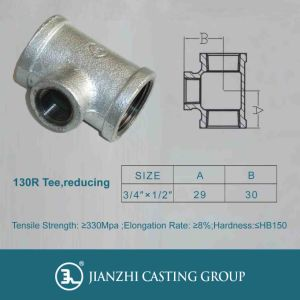 Malleable Iron Pipe Fittings Tee 1/8 Inch to 6 Inch pictures & photos