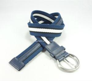 Plain Canvas Waist Belt with Metal Buckle (EUBL0490-35) pictures & photos