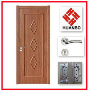 Modern Design PVC Carved Wooden Interior Door Hb-128