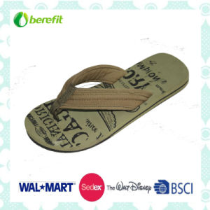 PU Upper and EVA Sole for Soft Design, Men′s Slippers pictures & photos