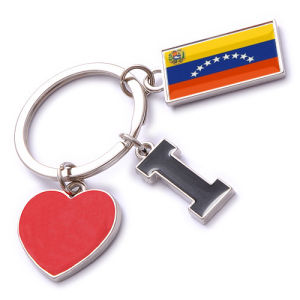 New Custom Metal Souvenir Venezuela Keyring pictures & photos