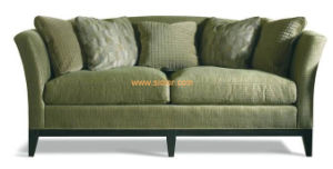 (CL-6609) Classic Hotel Restaurant Lobby Furniture Wooden Fabric Leather Sofa pictures & photos