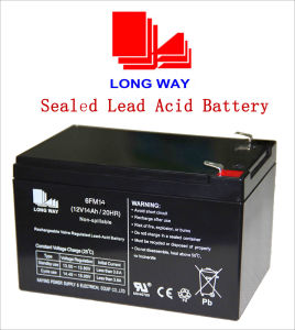 12V Rechargeable UPS Battery Sealed Lead Acid Battery 14ah pictures & photos