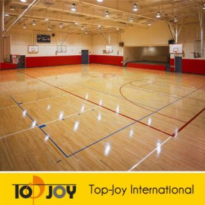 Basketball Wooden Grain PVC Sports Flooring