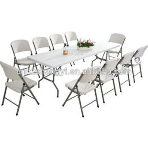 Rectangular Plastic Conference Banquet Wedding Folding Table (SY-240C) pictures & photos