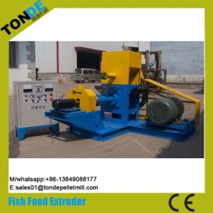 Single Screw Dry Floating Fish Feed Pellet Extruder Machine pictures & photos