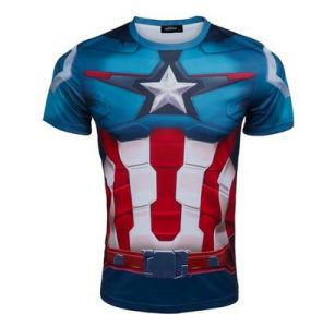 Men′s New Tights Captain America Sport T-Shirt Dress