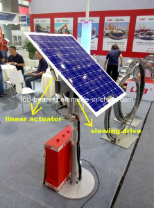 Slewing Drive + Linear Actuator = Dual Axis Solar Tracking System pictures & photos
