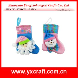 Christmas Decoration (ZY14Y592-1-2) Small Christmas Sock Toy Gift pictures & photos