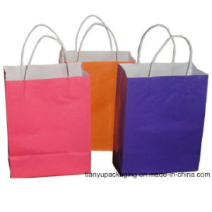 Color Printing White Craft Twisted Handle Paper Bag pictures & photos