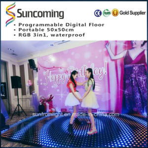 2015 RGB 5050 3in1 P62.5 Video Portable LED Dance Floor pictures & photos