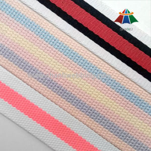 Colorful Cotton Polyester Woven Webbing for Garment Accessories pictures & photos