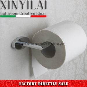 Oval Tube Brass Toilet Paper Holder with Chrome Finish pictures & photos