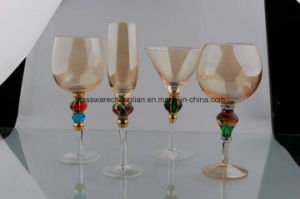 Great Handpainted Designs of Stemware Glass Set (B-GS09) pictures & photos