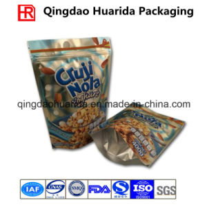 Stand up Plastic Candy/Popcorn Packing Bag with Resealable Zipper pictures & photos