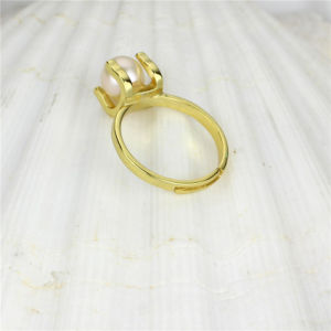 Gold Plated 925 Sterling Silver Fresh Water Pearl Ring pictures & photos