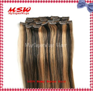 "Piano Colors and Highlights Colors 16""-26"" Long Clip in Human Hair Extensions pictures & photos"
