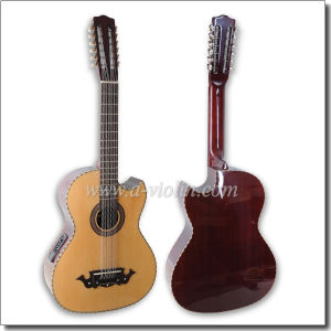 Wholesale Sharp Cutaway 12 Strings Acoustic Guitar with EQ (AFM10CE-12) pictures & photos