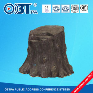 Stump Lawn Speaker for Park, Garden, Tourism, High Quality for Public Places