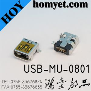 USB Connector for Electric Accessories/10pin SMD Female Micro Connector pictures & photos