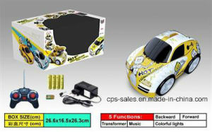 4 Channels RC Transforming Car with Music&Light (CPS045832)