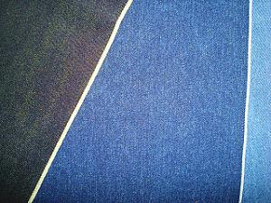 Red Selvage Cotton Slub Denim Twill Stretch Fabric Black pictures & photos