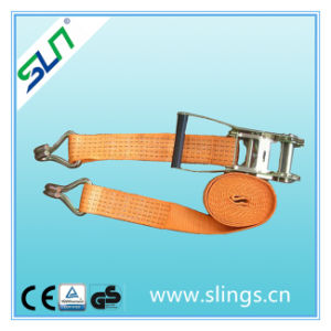 4t*8m Ratchet Strap with a Buckle and Double J Hook Sln Ce GS pictures & photos