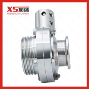 Stainless Steel Food Grade Hygienic Threading-Clamping Butterfly Valves pictures & photos