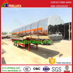 Cimc Type Stainless Steel Tanker Oil Fuel Tank Truck Semi Trailer pictures & photos