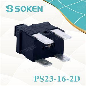 Soken Rectangular Push Button Reset Switch PS23-16-2D 2 Pole pictures & photos