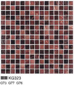 Glass Mosaic (golden line) KG323 pictures & photos