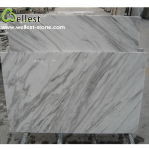 Volakas White Marble Grey Veins Floor and Wall Tile pictures & photos