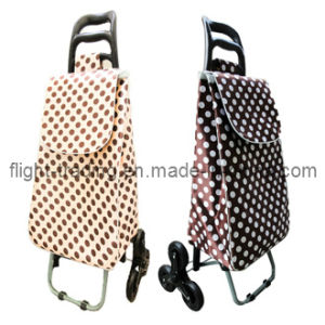Lightweight Foldable Shopping Trolley Bag with 3 Wheels Stair Climber pictures & photos