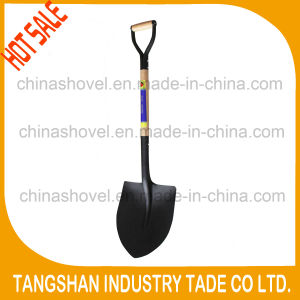 Wood Handle and Metal Grip Steel Shovel pictures & photos