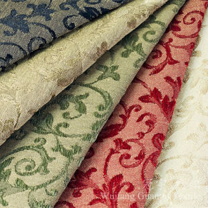 Jacquard Fabric 100% Polyester Linen Fabric for Sofa pictures & photos