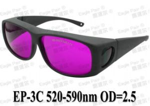 Safety Glasses 520nm-532nm-540nm-590nm CE Od+2.5 Green Laser Protective Goggles