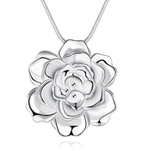Romantic Flower Shape Pendant Necklace Sterling Silver Color Wholesale Jewelry Necklace pictures & photos