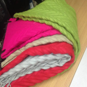 100% Acrylic Chenille Shawl pictures & photos