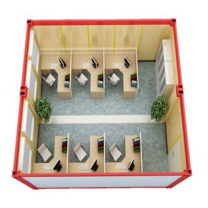 Prefabricated China Low Cost Steel Structure Standard 20FT Container Office pictures & photos