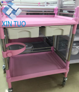 Factory Direct Price Hospital Stainless Steel Dirty Clothes Bag Trolley for Sale pictures & photos